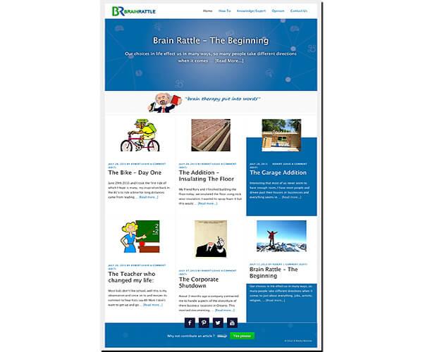 Brain Rattle website