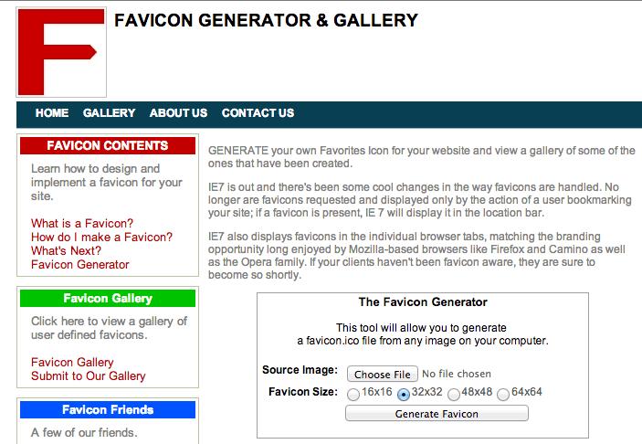 Favicon website