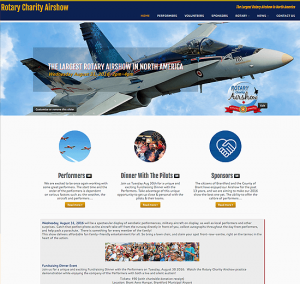 Airshow Website Design Brantford
