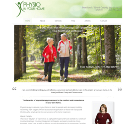Pam Physio In Your Home website