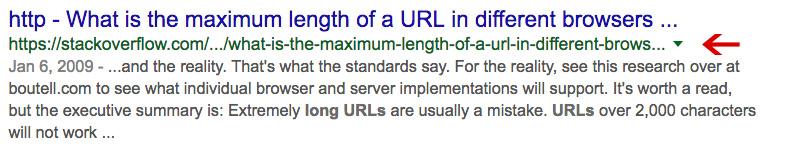 Long Url example