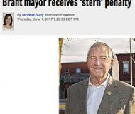 Brant Mayor receives 'stern' penalty